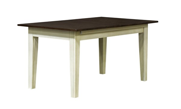 A-America Toluca Chalk Cocoa Bean 24 Inch Self Storing Leaves Rectangular Leg Table AAF-TOLCH617L