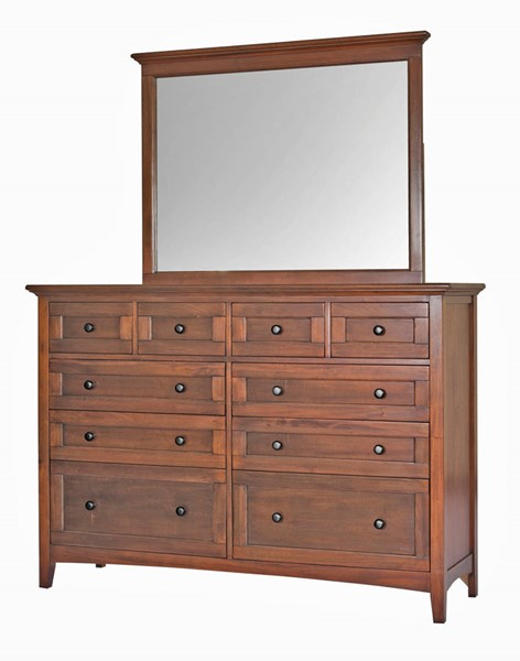 A-America Westlake Cherry Brown Master Dresser and Mirror AAF-WSLCB55-DRMR