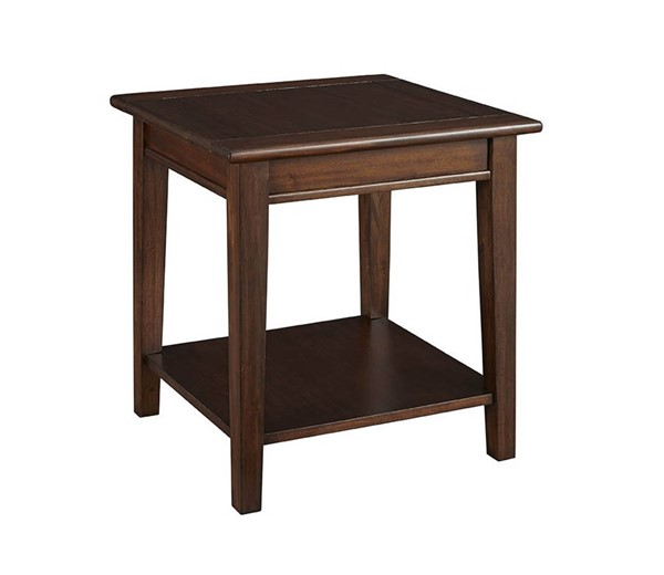 A-America Westlake Cherry Brown End Table with Shelf AAF-WSLCB7010
