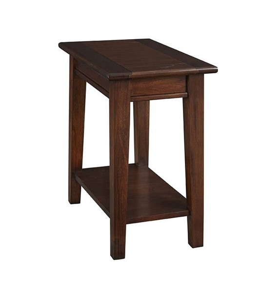 A-America Westlake Cherry Brown Chairside Table with Shelf AAF-WSLCB7020