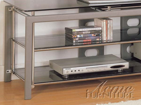 altra metal glass top tv stand 2148 by acme furniture the classy