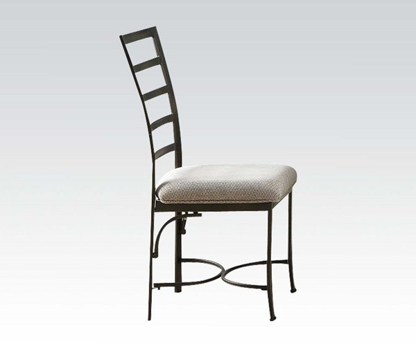 2 Daisy Casual Bronze Metal Fabric Side Chairs ACM-70097