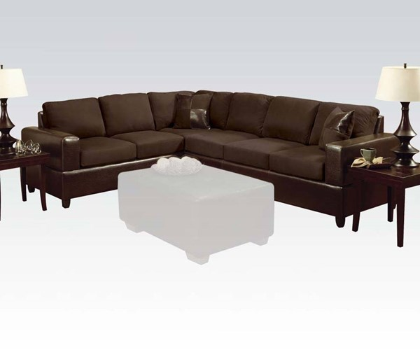 Acme Furniture Madrid Sectional Sofa with Two Pillows ACM-00107
