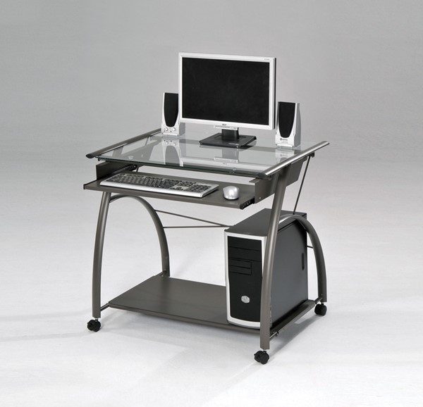 Acme Furniture Vincent Pewter Computer Desk The Classy Home