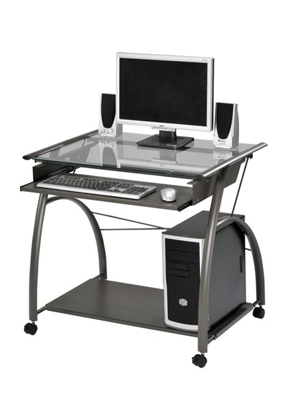 Acme Furniture Vincent Pewter Computer Desk ACM-00118