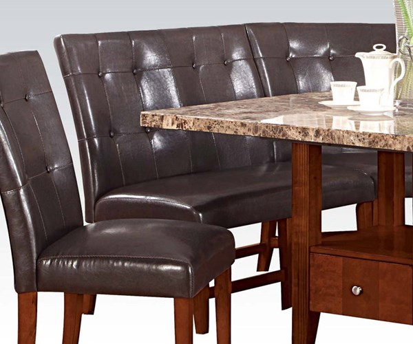 2 Bologna Transitional Brown Espresso PU Wood Love Chairs ACM-00284