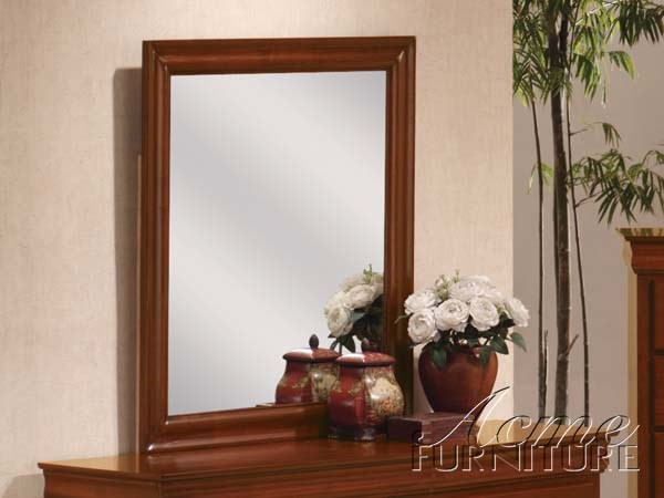 Cherry Oak Finish Mirror (0394) By Acme Furniture 00394 ACM-00394