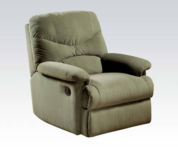 Arcadia Sage Fabric Padded Arms & Cushion Back Recliners ACM-00627-30-32