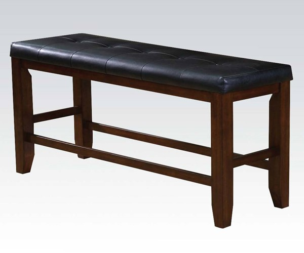 Acme Furniture Urbana Pu Tufted Seat Counter Height Bench