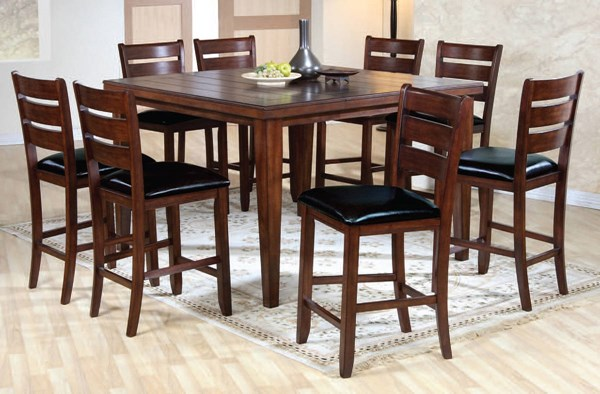 Urbana Cherry Black PU Wood 9pc Counter Height / Bar Set ACM-00680S