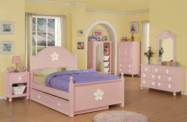 Floresville Youth Pink Wood Twin Size Bedroom Set ACM-00735T-SET