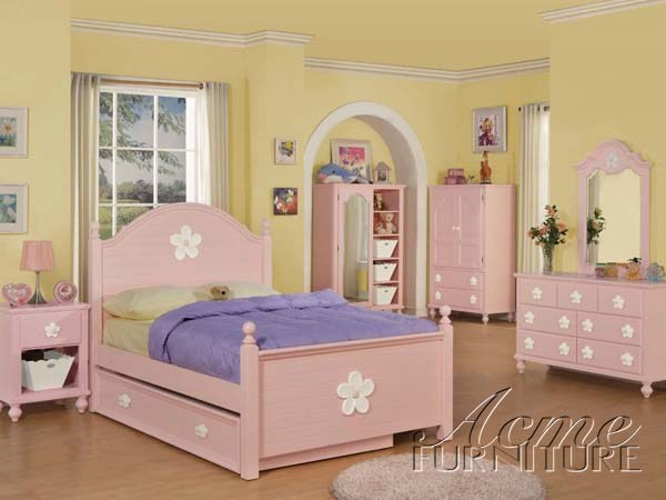 Floresville Youth Pink Wood 2pc Bedroom Sets ACM-00735TS