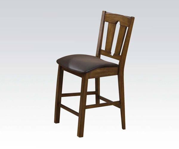 2 Morrison Espresso Wood Counter Height Chairs ACM-00846