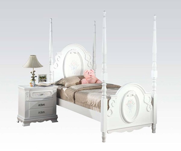 Acme Furniture Flora White Post Beds ACM-01677-BEDS