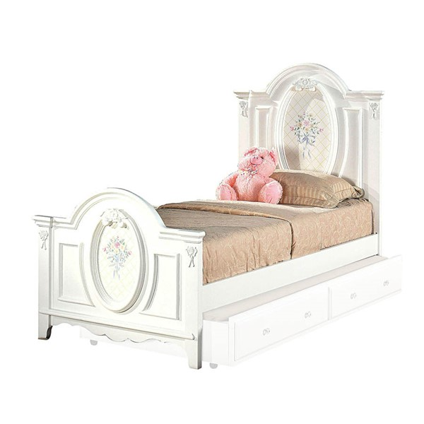 Acme Furniture Flora White Twin Panel Bed ACM-01680T