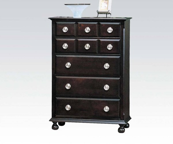 Amherst Traditional Espresso Wood Chest W/Drawers ACM-01796