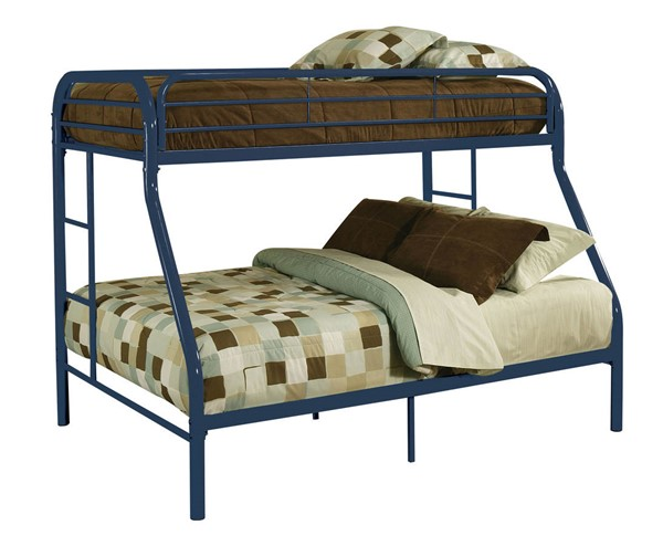 Acme Furniture Tritan Blue Twin XL Over Queen Bunk Bed ACM-02052BU
