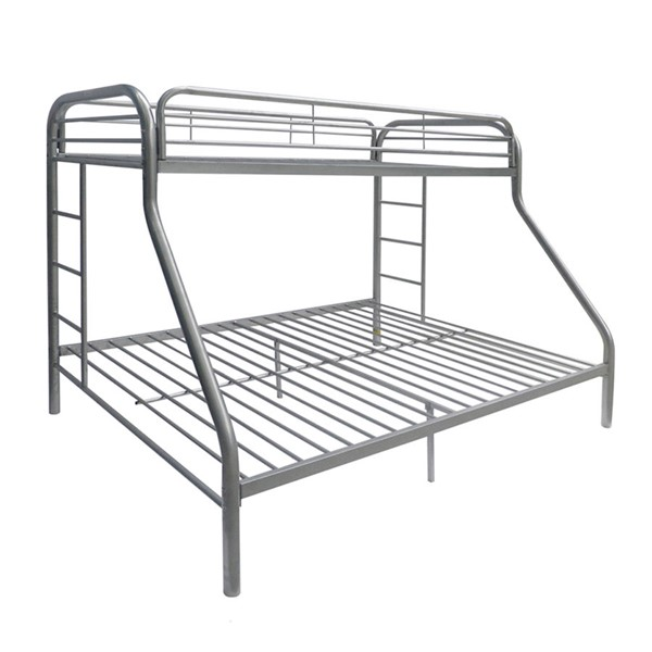 Acme Furniture Tritan Silver Twin XL Over Queen Bunk Bed ACM-02052SI