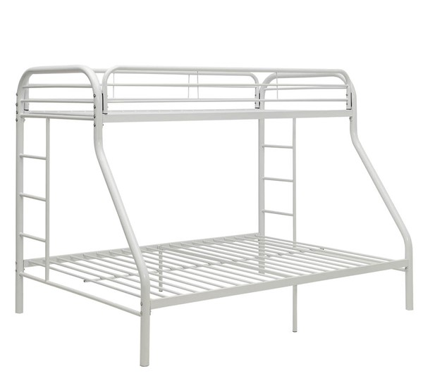 Acme Furniture Tritan White Twin XL Over Queen Bunk Bed ACM-02052WH