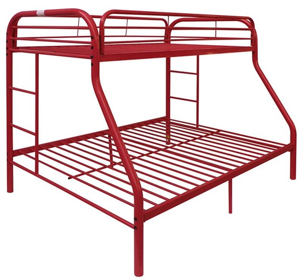 Acme Furniture Tritan Red Twin Over Full Bunk Bed ACM-02053RD