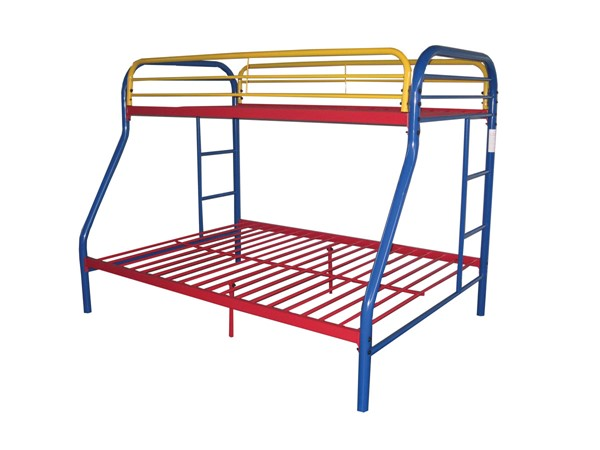 Acme Furniture Tritan Rainbow Twin Over Full Bunk Bed ACM-02053RNB