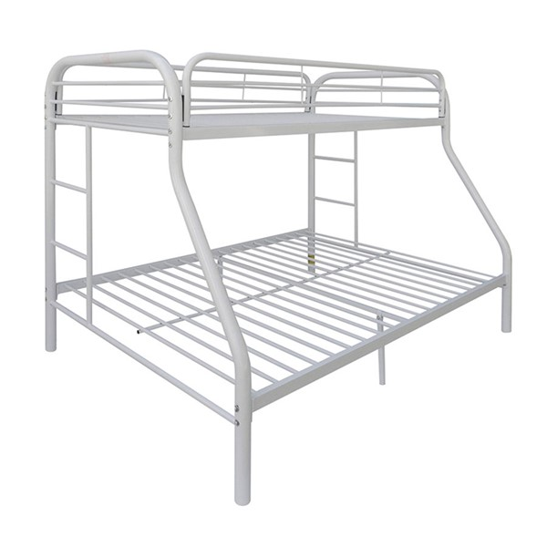 Acme Furniture Tritan White Twin Over Full Bunk Bed ACM-02053WH