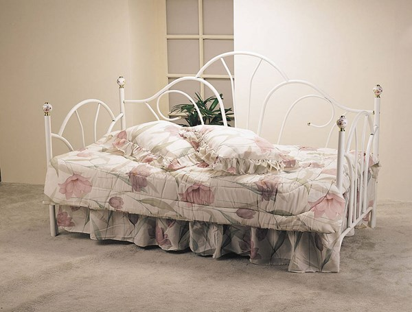 Silhouette White Metal Twin Headboard / Footboard Only ACM-02076W
