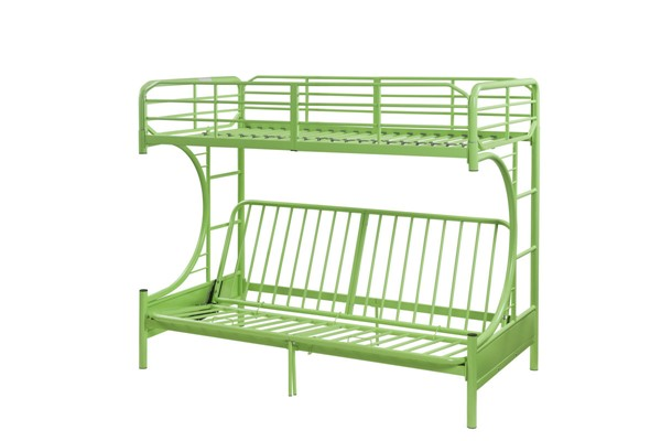 Acme Furniture Eclipse Green Metal Futon Bunk Bed ACM-02081GR