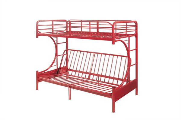 Acme Furniture Eclipse Red Metal Futon Bunk Bed ACM-02081RD