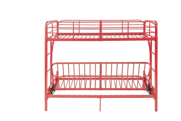 Acme Furniture Eclipse Red Metal Futon Bunk Bed The Classy Home