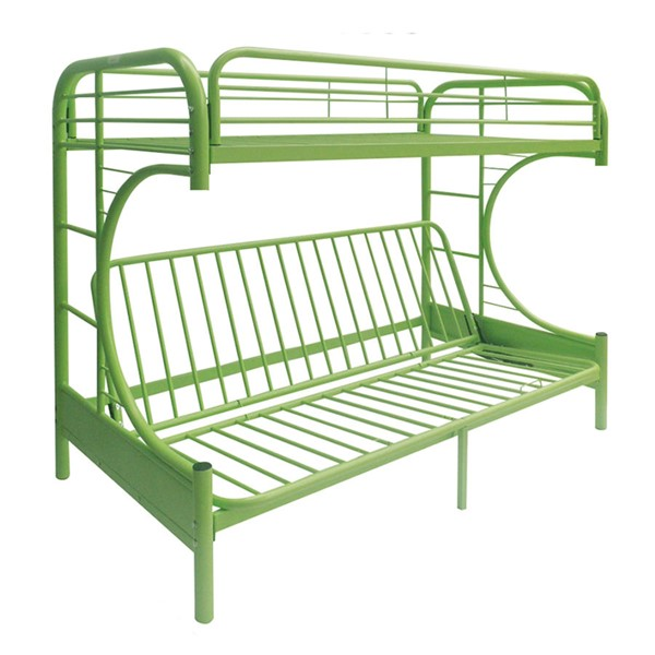 Acme Furniture Eclipse Green Twin Over Full Futon Bunk Bed ACM-02091GR
