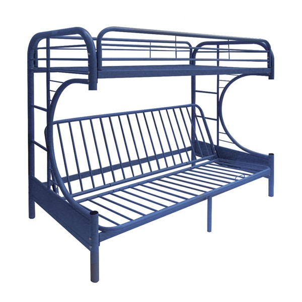 Acme Furniture Eclipse Navy Twin Over Full Futon Bunk Bed ACM-02091NV