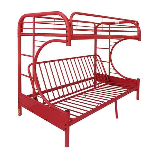 Acme Furniture Eclipse Red Twin Over Full Futon Bunk Bed ACM-02091RD