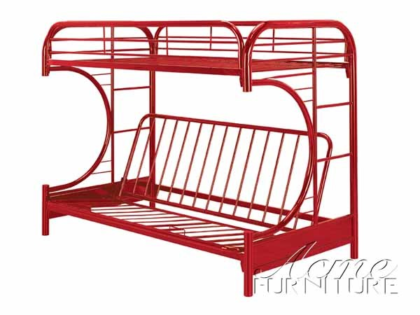 Eclipse Red Metal Twin/Full Futon & Bunk Bed ACM-02091RD
