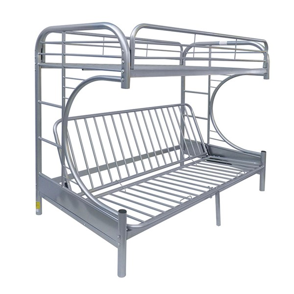Acme Furniture Eclipse Silver Twin Over Full Futon Bunk Bed ACM-02091SI