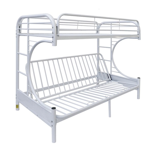 Acme Furniture Eclipse White Twin Over Full Futon Bunk Bed ACM-02091WH