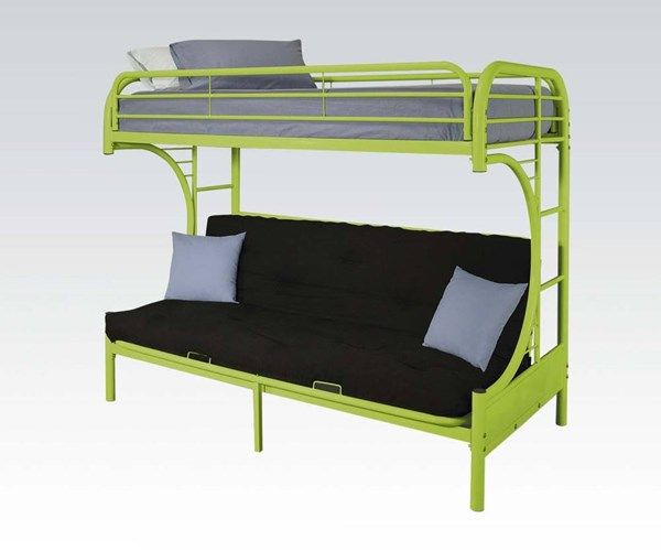 Eclipse Green Metal Twin/Full Futon Bunk Bed ACM-02091W-GR