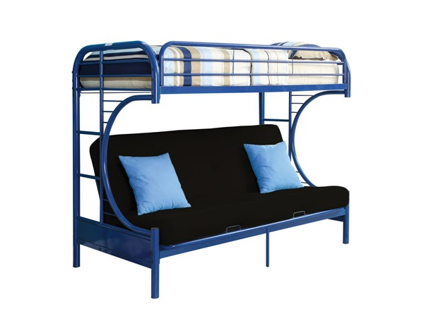Acme Furniture Eclipse Blue Twin XL Over Queen Futon Bunk Bed ACM-02093BU
