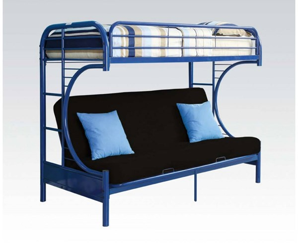 Eclipse Blue Metal Twin/Queen/Futon Bunk Bed ACM-02093BU