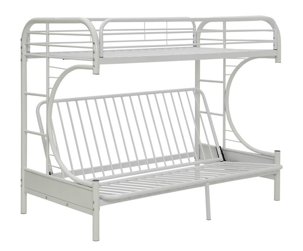 Acme Furniture Eclipse White Twin XL Over Queen Futon Bunk Bed ACM-02093WH