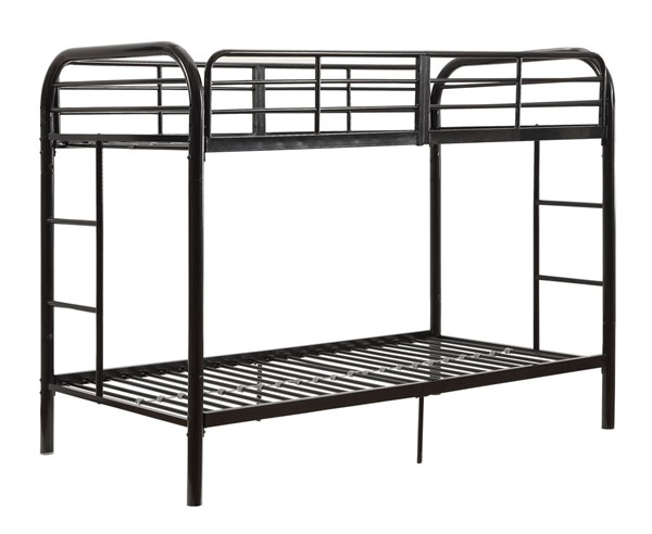 Acme Furniture Thomas Black Twin Over Twin Bunk Bed With Built In Ladder ACM-02178BK