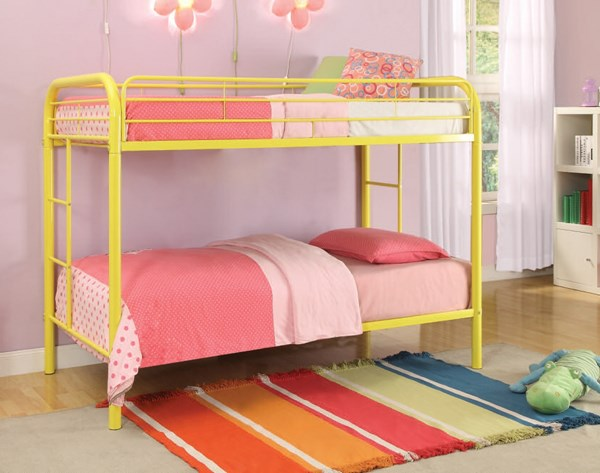 Thomas Yellow Metal Built In Ladder Twin/Twin Bunk Bed ACM-02188A-YL