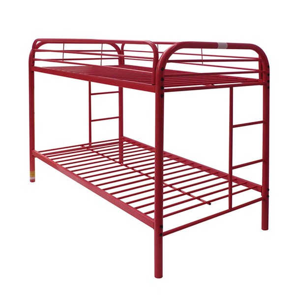 Acme Furniture Thomas Red Twin Over Twin Bunk Bed ACM-02188RD