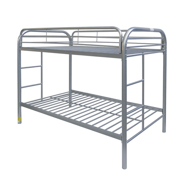 Acme Furniture Thomas Silver Twin Over Twin Bunk Bed with Ladder ACM-02188A-SI