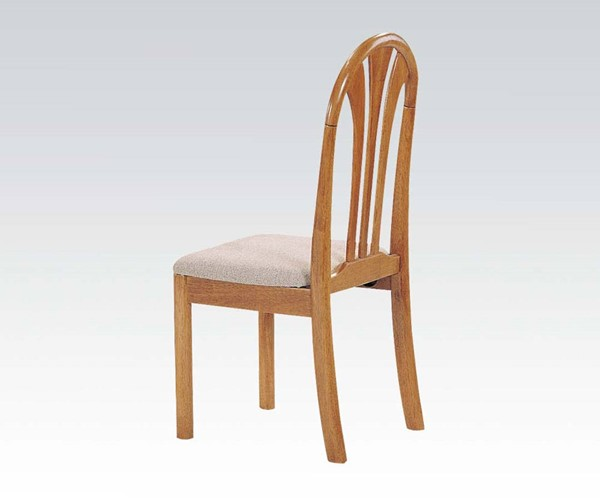 2 Stockholm Oak Wood Armless Side Chairs ACM-02190C-O
