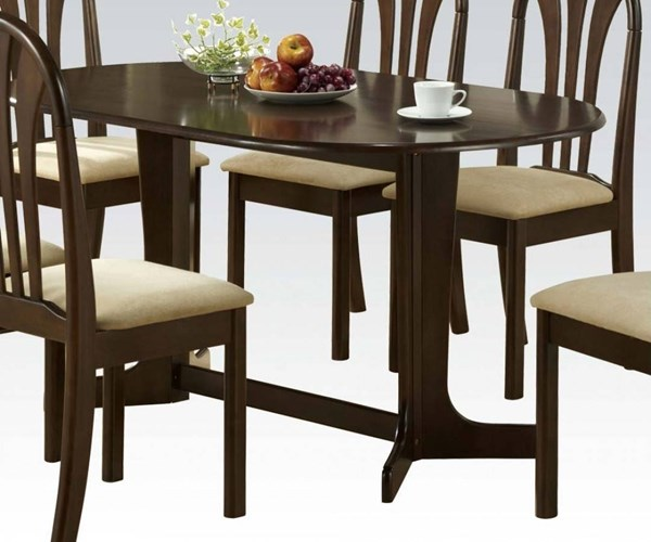 Stockholm Espresso Wood Oval Trestle Base Dining Table ACM-02190TE