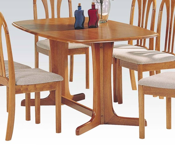 Stockholm Oak Wood Solid Top Dining Table ACM-02190T-O