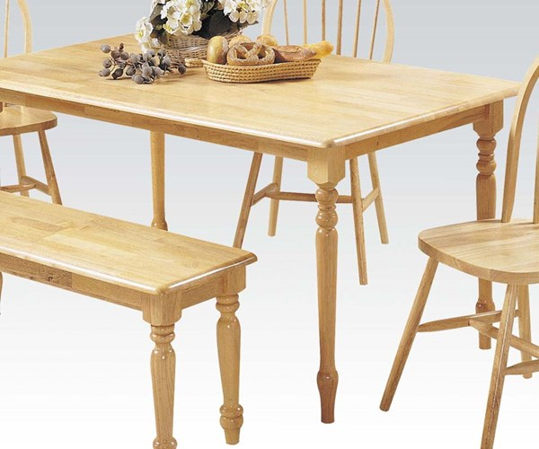 Farmhouse Casual Natural Wood Dining Table ACM-02247N