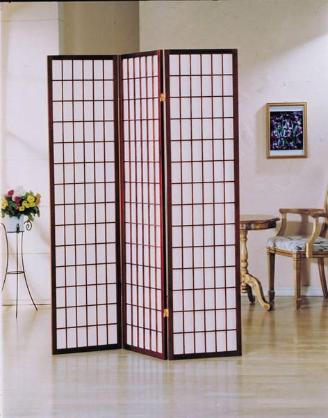Naomi Cherry 3 Panel Wooden Screen ACM-02277-84-85