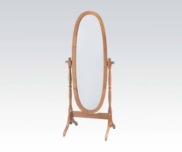 Fynn Oak Wood Mirror Oval Vertical Tilt Cheval Mirror ACM-02289